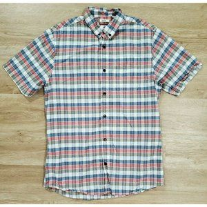 Katin Mens MulticolorPlaid Shirt Size Large